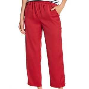 Romeo + Juliet Couture Red Button Ankle Pants